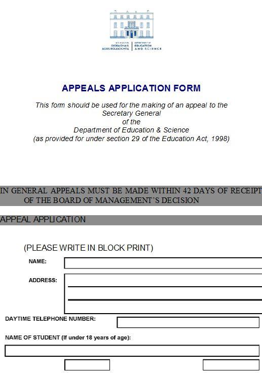DES Appeals Form 1