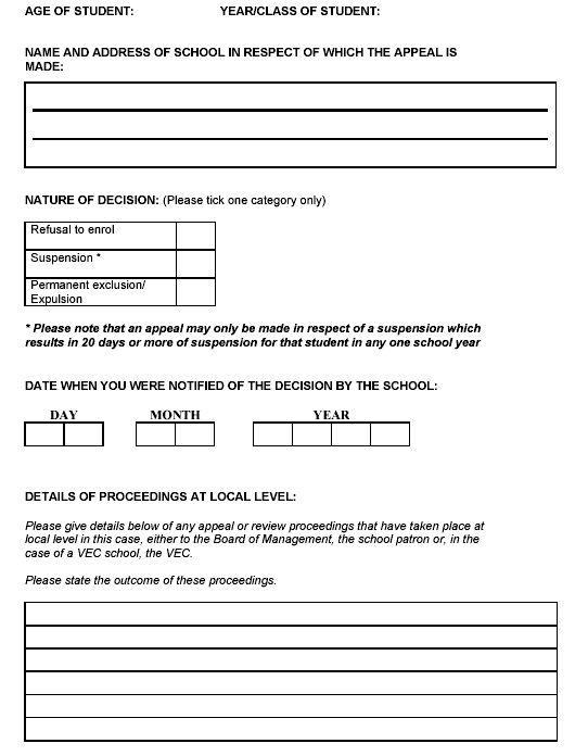 DES Appeals Form 2