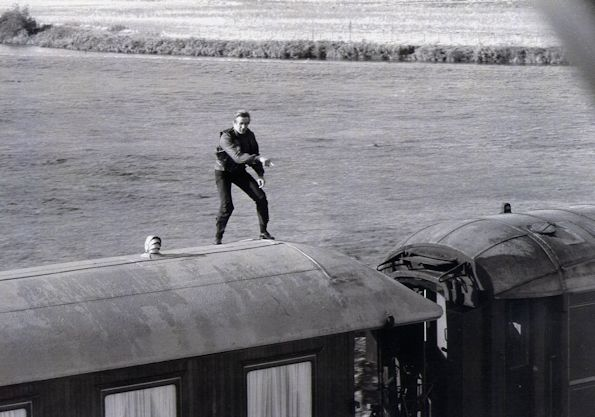 Train Roof Stunt